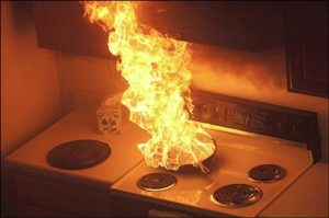Grease fire